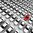 Hundreds of Cars, One Red! — Stock Photo #7978898