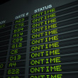 Stock Photo: Flight Information Board, On Time