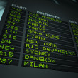 Airport Flight Information Board — Stock Photo #7978911