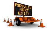 Results - Construction Sign Message — Stock Photo