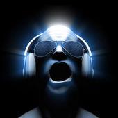 DJ with Headphones — Stock Photo