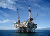Offshore Oil Rig Drilling Platform — Stock Photo