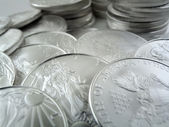 Silver Eagle $1 U.S. Bullion Coins — Stock Photo