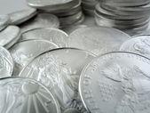 Silver Eagle $1 U.S. Bullion Coins — Stock Photo