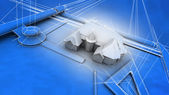 Architectural Blueprint of House — Stock Photo