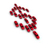 Cars Making Dollar Symbol — Stock Photo