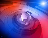 World Globe 3D Design Background — Stock Photo