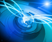 World Globe Digital Network Connection Background — Stock Photo