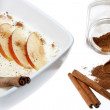 Royalty-Free Stock Photo: Rice pudding with apple and cinnamon