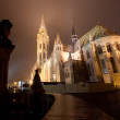Budapest Matthias Church at night - Stock Photo
