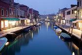 Murano in der nacht, italien — Stockfoto