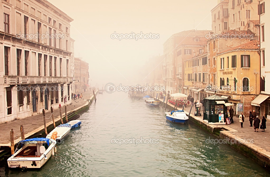 Grand Canal at a foggy evening — Stock Photo #8104542