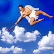 Stock Photo: Flying Cupid