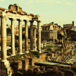 Vintage postcard with Foro Romano - Photo