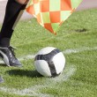 Referee in corner with ball — Stock Photo #8828362