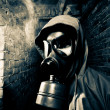 Man wearing gas mask — Stock Photo #8828433