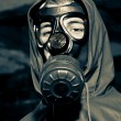 Man wearing gas mask — Stock Photo #8828442