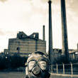 Man wearing gas mask — Stock Photo #8828485