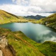 Landscape from Capra Lake in Romania and Fagaras mountains in the summer — Stock Photo