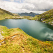 Stock Photo: Landscape from Capra Lake in Romania and Fagaras mountains in the summer