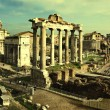 Vintage postcard with Foro Romano - Foto de Stock
