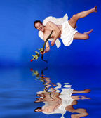 Flying Cupid — Stock Photo