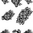 Stock Vector: Tribal black tattoos set 3