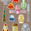 Stock Vector: Rocket stickers