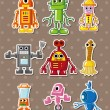 Robot stickers — Stock Vector #10034861
