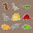 Stock Vector: Dinosaur stickers