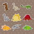 Royalty-Free Stock Vector Image: Dinosaur stickers