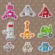 Robot stickers — Stock Vector #10034908