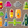 Spaceship stickers - Grafika wektorowa