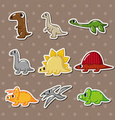 Dinosaur stickers — Stock Vector