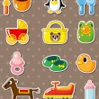 Baby stickers — Stock Vector