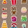 Royalty-Free Stock Vector Image: Birthday stickers