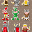 Royalty-Free Stock Vector Image: Cartoon medieval stickers