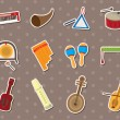Musical stickers — Vector de stock #10268696