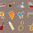 Stock Vector: Musical stickers