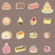 Stock Vector: Cake stickers