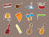 Musical stickers — Stock Vector