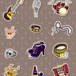 Rock music band stickers — Stock Vector #10331763