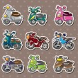 Royalty-Free Stock Vector Image: Cartoon motorcycle stickers