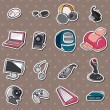 Stock Vector: Computer icon stickers