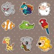 Royalty-Free Stock Vector Image: Animal stickers