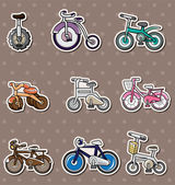 Cartoon Bicycle stickers — Stock Vector