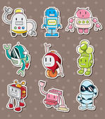 Cartoon robot sticers — Stockvektor