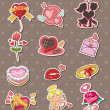 Royalty-Free Stock Vector Image: Cartoon Valentine\'s Day stickers