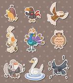 Bird stickers — Stock Vector
