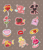 Cartoon Valentine's Day stickers — Stock Vector